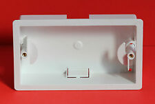 "1 x MARSHALL TUFFLEX Twin Gang Dry Liner Box in White 34mm Depth ""Brand New"""