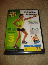 Gold'S Gym 30 Day Body Makeover Workout Dvd 3 Workouts + Eating Guide