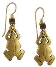 NEW! Laurel Burch FROG Antiqued Gold Over Pewter Earrings Made in the USA!