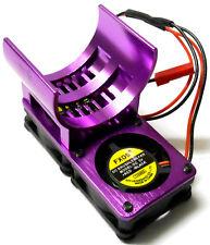 H006P 540 motor refrigeración disipador térmico disipador con ventilación de aleación morado doble ventilador para JR