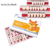 Acrylic Resin Denture Dental Full Set Teeth Upper Lower ShadeA1/A2/A3 EASYINSMIE