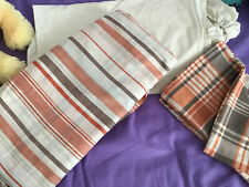 Designer double douvet set And Bottom Sheet Orange Stripe