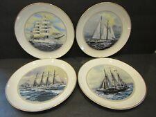 The Official Tall Ships Fine China 4 Plates~Eagle/Eendracht/Be l Espoir Ii/Juan