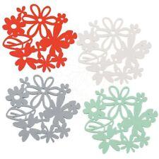 KOZIOL 4er Set Untersetzer ALICE | Glasuntersetzer Flaschenuntersetzer Blume NEU