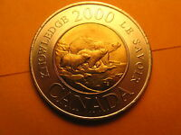 Canada 2000 $2 Coin Bear With Cubs Taking Them To The Path Of Knowledge.
