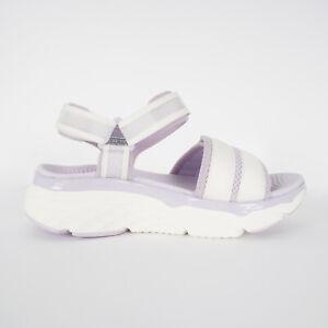 Skechers Max Cushioning Sandal [140424WLV] Women Sandals Shoes White / Lavender