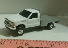 1/64 CUSTOM farm toy white Ford f350 w/ silver flatbed TRUCK ERTL farm toy