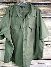 Propper 3XL Mens Green Uniform Shirt Short Sleeve G6