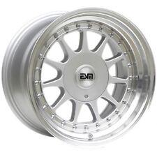 """16x8 16x9 Silver 16"""" ESM-003R Wheels 4x100 5x100 VW BMW E30 Jetta Golf GTI"""