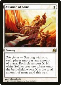 1X Alliance of Arms Commander 2011 NM/EX Spanish MTG CARD