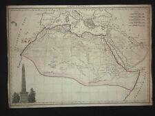 Afrique ancienne - maps - carte - gravure XIXe Chamouin 1812 - Giraldon