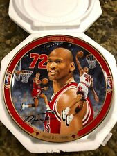 "Bradford Exchange Michael Jordan ""Record 72 Wins"" Collector Plate w/ COA"