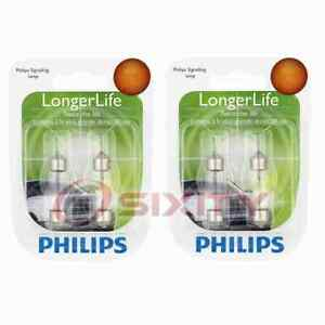 2 pc Philips License Plate Light Bulbs for Porsche 911 928 968 Boxster yy