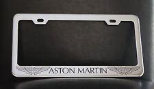 """ASTON MARTIN"" License Plate Frame, Custom Made of Chrome Plated Metal"
