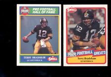 1989-1990 Swell TERRY BRADSHAW Pittsburgh Steelers Hall of Fame 2 Card Lot