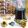 DC 12V 1/2'' NPT Inlet Electric Solenoid Water Air Valve Gas NPT Brass