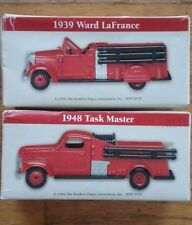 1948 Task Master & 1939 Ward LaFrance Diecast Fire Trucks with Original Boxes