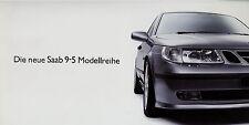 Prospekt Saab 95 2001 brochure Autoprospekt Auto PKW broschyr brosjyre 614164