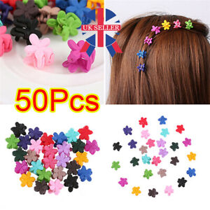 50pc Baby Mini Hair Clips Girls Kids Flowers Hair Clip Bow Hair Claws Pin Clips