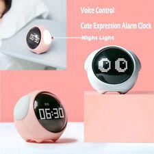 Cute Pixel Alarm Clock Night Light Electronic Digital Clock Kids Christmas Gifts