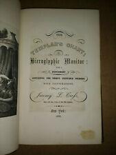TEMPLARS CHART HIEROGLYPHIC MONITOR 1852 3rd Ed HC free S/H Freemasonry Masonic