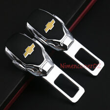 2x Car Parts Interior Accessories Safety Seat Belt Plug Clip Logo For Chevrolet
