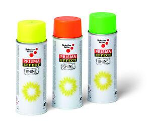 Sprühlack Leuchtspray Neon gelb rot grün Lackspray 400ml Leuchtfarbe Signalspray