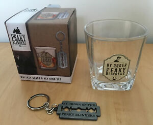 Peaky Blinders Whisky Glass & Key Ring Gift Set ' New '