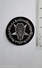 BLACK COFFIN SOCIETY PSYCHOBILLY ROCKABILLY  Embroidered PATCH Applique HOTROD