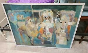 """LARGE SIGNED OIL PAINTING ON BOARD """"HAROLDUS REX"""" by VINCENT BENNETT"""