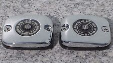 CHROME BRAKE & CLUTCH FLUID CAPS for 2002-2005 Harley Davidson V-Rod VRod