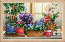 "Counted Cross Stitch Kit RIOLIS - ""Windowsill with flowers"""