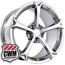 18x9.5/19x12 OE Performance 130C Corvette Grand Sport Chrome Wheels Rims +40 +59