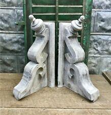 Large Pair Rustic Corbels, Corbel Shelf Brackets, Distressed Farmhouse Corbels