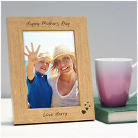 Happy Mothers Day PERSONALISED Photo Frame Engraved Keepsake Picture Frame Gifts