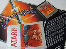 Atari 2600 Swordquest Earthworld Cartridge Poster Manual Video Game System