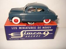 NOREV REEDITION SIMCA ARONDE 9 BLEU  au 1/43°