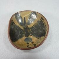 Martha's Vineyard Pottery Bowl with Butterfly or Moth - Tom Thatcher 1950's