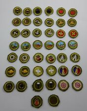 Boy Scout Early Vintage Merit Badge Patch Lot Salesmanship Marksmanship Basketry