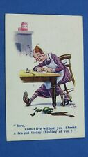 Inter Art D Buxton Comic Postcard 1920 Hat Hair Pin Domestic Servant TEA POT