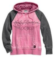 Harley-Davidson Women's Pink Label Leopard Accent Hoodie 99129-17VW