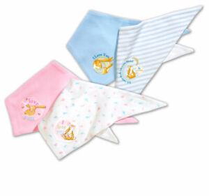 2er Pack Baby Halstuch Dreieckstuch 100% Baumwolle Tuch Hase Dreiecktuch