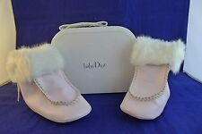 "Dior baby girl pink boots""New Rose Cute"" size EU 20, UK 4, 12-18 months"