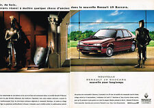 PUBLICITE ADVERTISING 025  1992  RENAULT 19 BACCARA  (2pages)