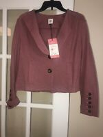 CAbi Style 3550 Mauve Pink Long Sleeve 2 Button Applaud Jacket Women's 8