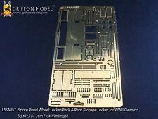 Griffon 1/35 #L35A057 Spare Wheel & Locker for Sd.Kfz.7/1 Flakvierling 38