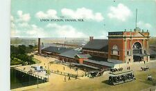 Nebraska, NE, Omaha, Union Station 1909 Postcard