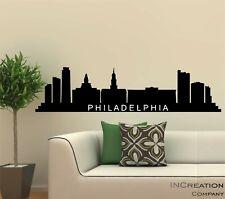 Philadelphia Skyline Vinyl Wall Decal Wall Sticker Man cave Bedroom Removable