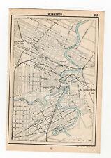 Map Of Winnipeg Manitoba Canada Antique