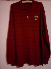 RYDER CUP 2010 CELTIC MANOR LONG SLEEVE DARK RED POLO SHIRT XL MINT CONDITION
